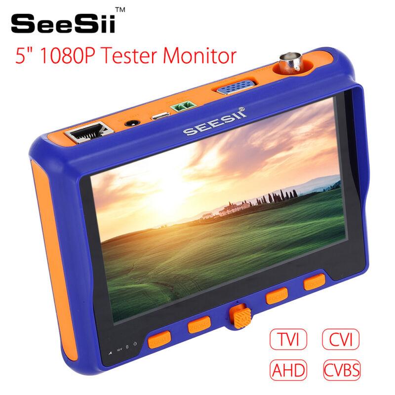 "5"" Tester Monitor 1V4 TVI CVI AHD CVBS BNC LCD Screen Signal Input Cam Security"