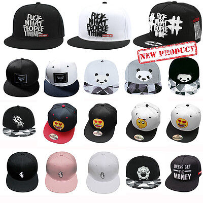 Fashion Mens Brim Snapback Hat Baseball Cap Adjustable Hip Hop Bboy Unisex Cool