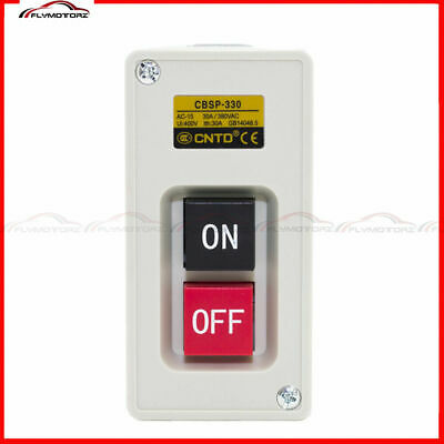 1pcs 3 Phase 30a 3.7kw Maintained Onoff Power Pushbutton Switch Us Stock