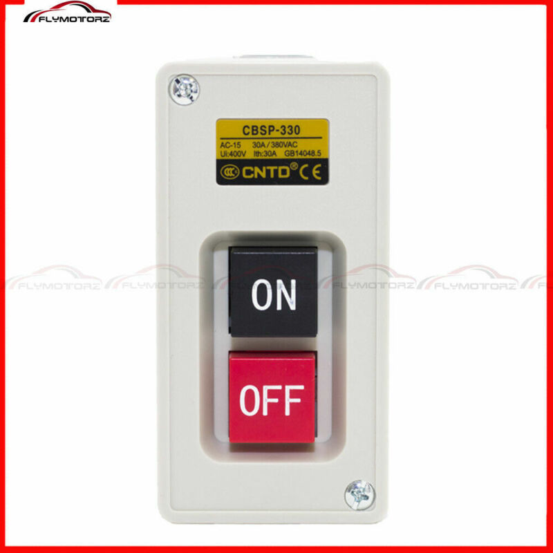 1PCS 3 Phase 30A 3.7KW Maintained On/Off Power Pushbutton Switch US Stock