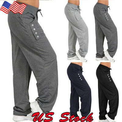 Women Trousers - US Women Casual Loose Cotton Sweatpants Sports Harem Trousers Yoga Jogger Pant