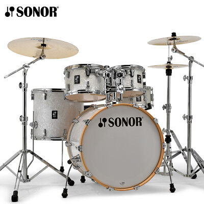 """NEW Sonor AQ2 Series 5 Piece 22"""" STAGE Drum Set Shell Pack White Marine Pearl"""