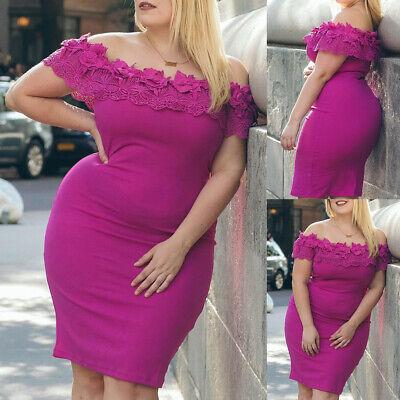 Plus Size Damen Minikleid Sexy Off-the-Shoulder Bodycon-Kleid Abendkleid - Plus Size Sexy Kleider
