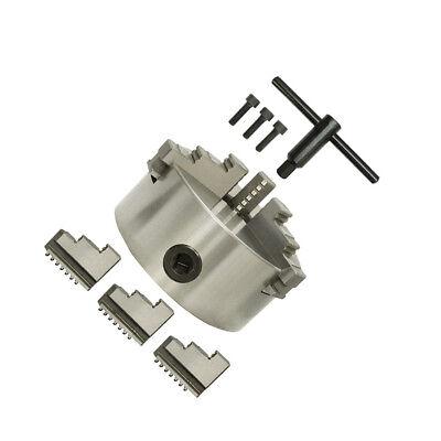 Lathe Chuck 6 Inch Diameter 3 Jaw Self-centering Chuck Hardened Reversible Tool