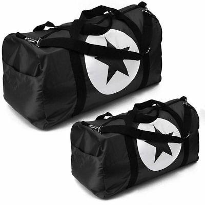 "Black Duffle Bag Star Sport Gym Carry-On Travel Luggage Tote HandBag 36""/24""/18"""