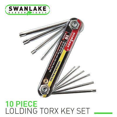 10 PC Tamper Proof Star Key Set Folding Locking Torx security screwdriver - Non Magnetic Screwdriver