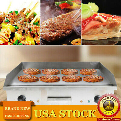 Commercial Electric Food Griddle Grill Countertop Flat Bbq Grill Cooking Machine