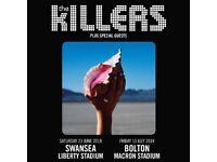 Killers tickets Swansea 23 June