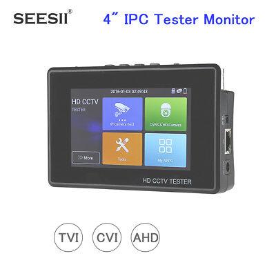 4 Inch 3in1 Tester Monitor Hd 4k Cctv Camera Tvi Cvi Ahd Ptz Control Audio H.265