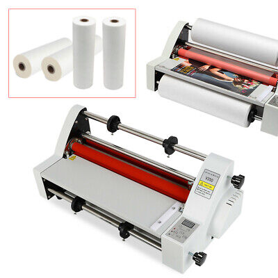 V350 Laminating Machine Hot And Cold Roll Digital Lamie Ac110v 700w 4 Rollers