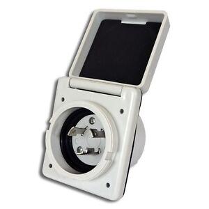 30 amp twist lock rv white 125 250v 30 amp standard twist power easy lock inlet for power cord