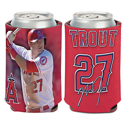 Los Angeles Angels Can Cooler 12 Oz  Mike Trout Koozie