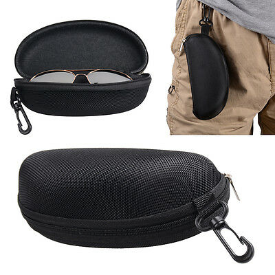 Zipper Hard Eye Glass Case Box Sunglass Protector Travel Fashion with Belt (Sunglasses Belt Case)