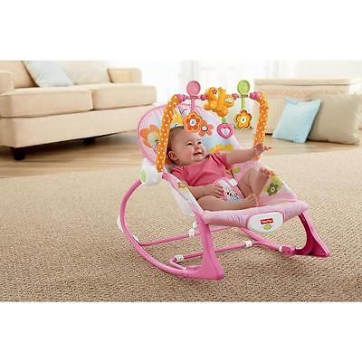 Fisher-Price Infant-to-Toddler Rocker Sleeper, Pink Bunny