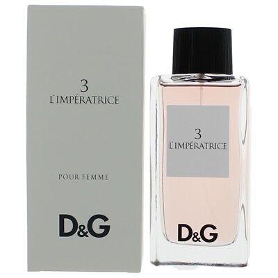 D&G Anthology L'imperatrice 3 Perfume 3.3oz EDT Spray women NEW