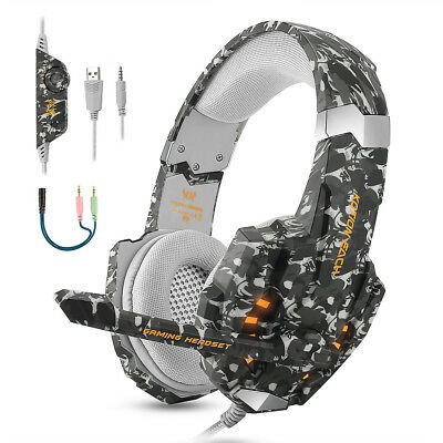 Cuffie Auricolare Gaming da Gioco Headset con Microfono per PC PS4 Xbox One NS