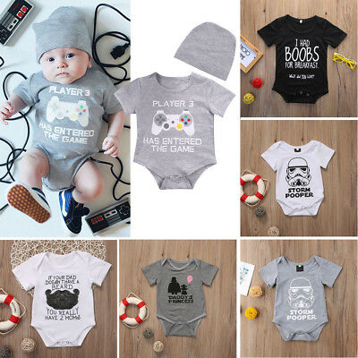Newborn Star Wars Baby Boy Girl Romper Bodysuit Short Sleeve Summer Clothes Tops](Star Wars Babys)