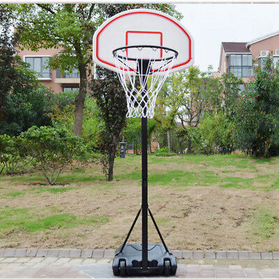 PROFESSIONAL FULL SIZE PORTABLE ADJUSTABLE BASKETBALL STAND NET HOOP BACKBOARD