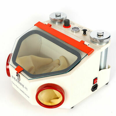 Dental Lab Equipment Twin-pen Sandblaster With 2 Metal Tanks Led Light Us Stock
