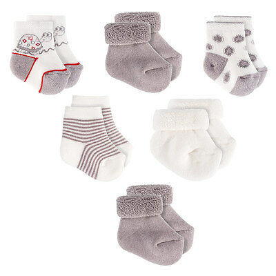 Baby Socken Erstlings Söckchen / Babysöckchen 6er Pack / Schildkröte 0-3 Monate