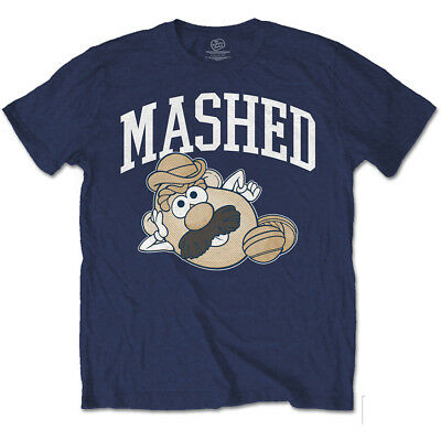 Mr Potatoe Head Mashed Mens Navy Short Sleeve T Shirt Pixar Toy Story Disney