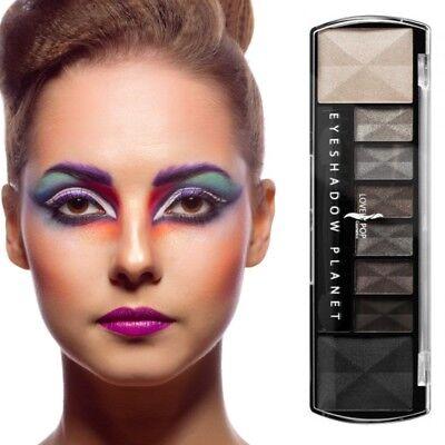 Lidschatten 8 Farben Schwarz Make Up Eyeshadow Kosmetik Highlighter Palette
