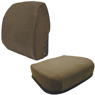 Seat Cushion Set - Brown Fabric - Fits John Deere 4055 4255 4455 4555 4755 4955