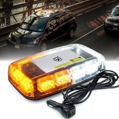 Xprite Amber White 36 Led Strobe Light Beacon Rooftop Emergency Warning Trucks