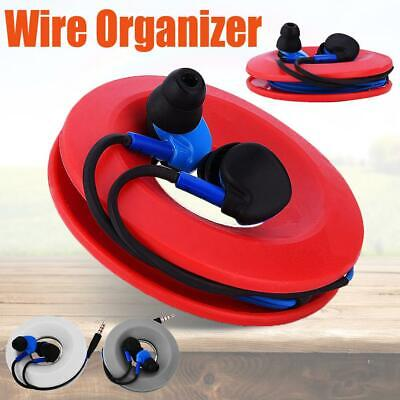 Winder Earphones Headphones Cable Cord Line Organizer Wrap Wire Holder Box Case