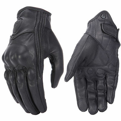 2019 Retro Real Leather Motorcycle Gloves Moto Waterproof Gloves Motocross Glove