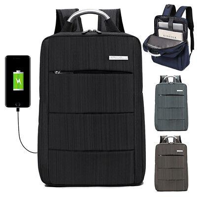"15.6"" Men Waterproof Laptop Backpack Business School Rucksack Casual Travel Bag"