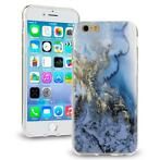 Marble case marmer blauw goud iPhone 6 / 6S