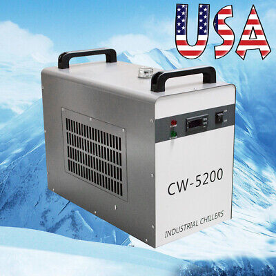 Cw-5200dg Simple Operation Industrial Water Chiller 6l For Co2 Laser Tube Us2-5d