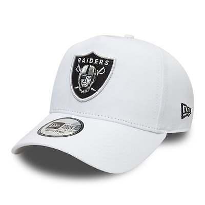 New Era NFL Oakland Raiders Essential A Frame Adjustable Trucker Cap