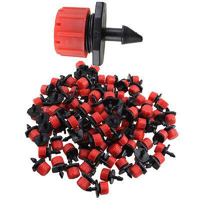100 Micro Drip Irrigation Watering Anti-clogging Emitter ...