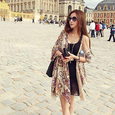 Bohemian Chiffon Fashion Soft New Women Shawl Wrap Stole Silk Scarf