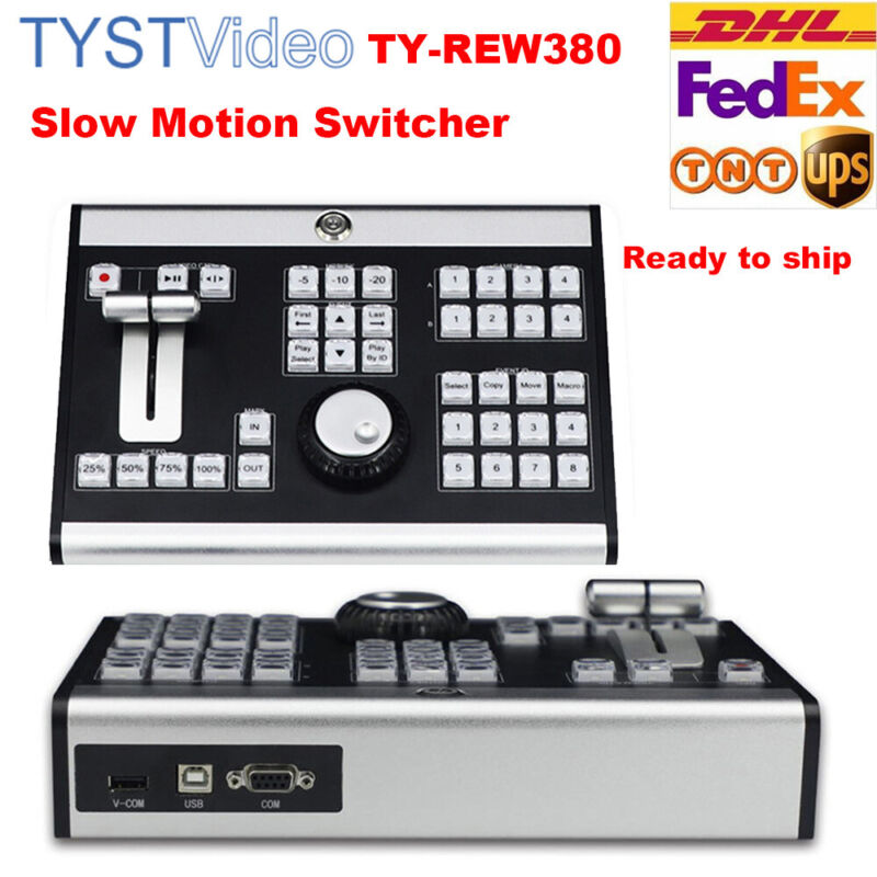 TYST TY-REW380 Slow Motion Switcher 4 Channel COM Control Panel Video Recording