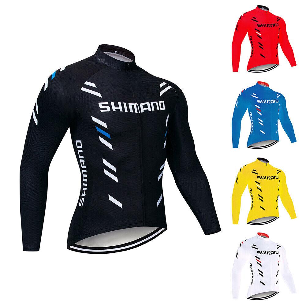 New Mens Team Cycling Long Sleeve Jersey Bike shirt Bicycle tops Racing Clothing