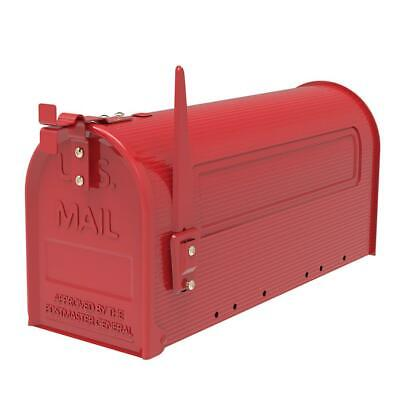 Extra-Large Capacity Iron Post Mount Mailbox Outdoor Letter Storage Rural Style Building & Hardware