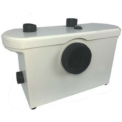 Macerator 3 Way Sanitary Waste Pump for WC Toilet Sink Basin - UK Warehouse