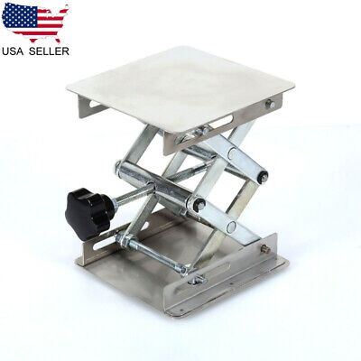 150mm Stainless Steel Lab Stand Laboratory Scissor Platform Lift Rack Lifter