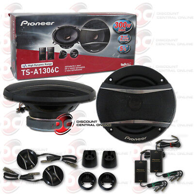 """PIONEER TS-A1306C 5-1/4"""" 5.25-INCH CAR AUDIO 2-WAY COMPONENT SPEAKER SYSTEM"""