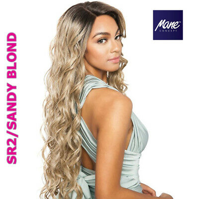 BS298 - Water Wave Soft Swiss Lace Front Wig - Human Hair Blend - Mane Concept Swiss Lace Front Wigs