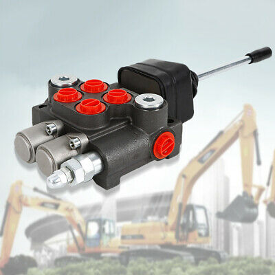 2 Spool Hydraulic Directional Control Valve Double Acting 11gpm 3600 Psi 250 Bar