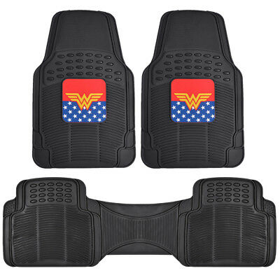 Wonder Woman Rubber Floor Mats & Rear Runner for Car SUVs Van Truck - - Wonder Woman Vans
