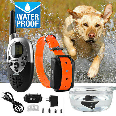 AGPtek® 1000 Yards Pet Dog Training Collar Rechargeable Waterproof Remote Shock