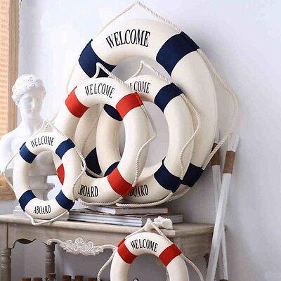 Nautical Hanging Decorations (Lifebuoy Ornaments Nautical Decorations Wedding Party Home Wall Hanging)