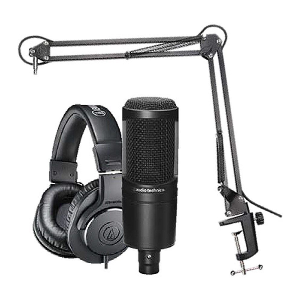 audio-technica-at2020-studio-microphone-pack-with-ath-m20x-boom-and-xlr-cable