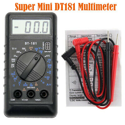 Mini Pocket Dt181 Digital Multimeter Diode Tester Volt Ohm Meter Ac Dc
