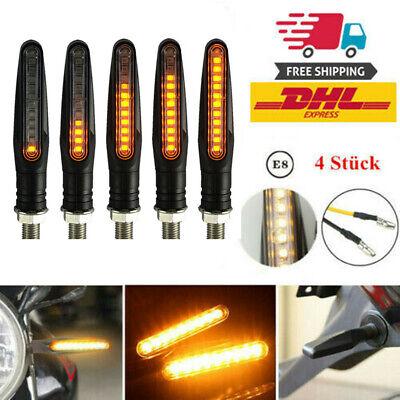 4 Stück LED Mini Blinker MicroBlinker Schwarz getönt Motorrad Quad ATV E-geprüft